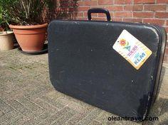Vintage KLM traveling suitcase - http://oleantravel.com/vintage-klm-traveling-suitcase