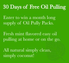 Win 30 Days of Oil Pully Packs - Spring 2014