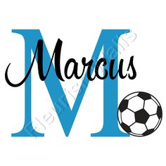 Soccer Wall Decal Personalized Sports Theme by FleurishWalls, $32.95