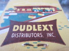 Vintage 1950s/1960s Dudlext Distributors Downey by kookykitsch, $4.95