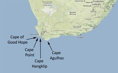 The REAL place the 2 Oceans meet is Cape Agulhas ... not the poxy Cape Point! The mixed up rocks of Cape Agulhas.
