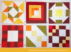 Free Domino Block Pattern, plus  Online Quilting Workshop  FOR BEGINNERS .... Love how the free sampler quilt pattern is coming together. Beautiful.