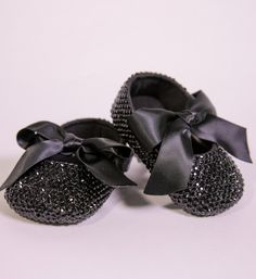 Handmade Rhinestone Baby Shoes-Custom Made Sparkle Bling Rhinestone Lace Up Princess Baby Girl Ballet Shoes Perfect shoes for weddings, birthday, christening, christmas, baptism, photo shoot or baby shower gift Material: Rhinestone, satin, cotton Color: Black Fit for newborn - 18 months Available in 12 different colors Please choose your little girl size by Insole length