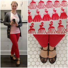red, white, and grey. Via The Glamorous Housewife.