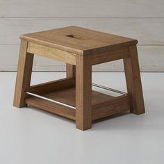 Wooden Step Stool - bathroom? @Luke Herman