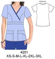 Delantales Corporate Uniforms, Scrubs Uniform, Dress Sewing Patterns, Diy Clothing, Apron, Crochet, Tops, Dresses, Fashion