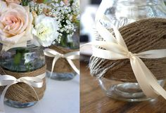 Timeless Wedding Trend: Mason Jars - By Earth Friendly Weddings