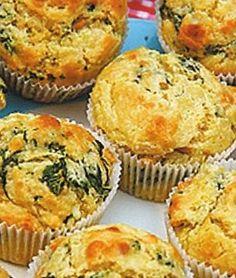 Muffin with corn and green