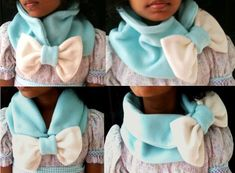 A tutorial for quick and easy Chunky Bow Neck Warmer ...It's very cute and very cozy!
