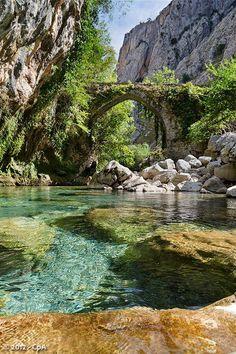 River Cares, Asturias, Spain  From: https://500px.com/photo/13035163/puente-de-la-jaya-by-carlos-pérez-aka-cpa