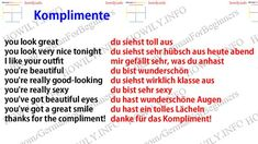 you look great du siehst toll aus you look very nice t. Learn German, Learn French, Learn English, German Grammar, German Words, French Lessons, English Lessons, Spanish Lessons, Beautiful Infographics