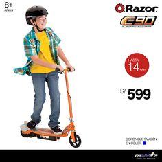 Scooter eléctrico Razor E90. La diversión y calidad que sus chic@s esperan está a tu alcance. Disponible también en color azul.  A la venta en el showroom 3010 de Compupalace y en nuestra página web.