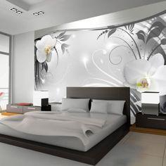 Fotomural 200x140 cm ! 3 tres colores a elegir - Papel tejido-no tejido. Fotomurales - Papel pintado 200x140 cm - flores orquídea ornamento abstracción b-A-0078-a-b