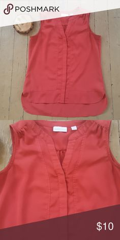 The Limited Red blouse Sleeveless red blouse, great for summer time! New York & Company Tops Blouses