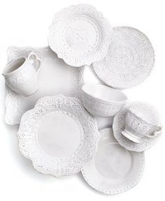 An ornate way to do white, Maison Versailles dinnerware