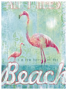 All I Need w/ Flamingos Artwork: Beach House Decor, Coastal Decor, Nautical Decor, Coastal Living Boutique, Tropical Decor