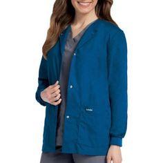 Landau Women's Snap Front Scrub Jacket