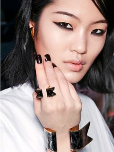 "Nails - Fall 2013 - Some fall trends scream ""party time"" while others can go straight to the boardroom. Here, new looks to wear. By Marie Claire. Gothic Renaissance."