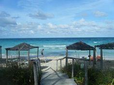 walking to the beach @ Tryp Cayo Coco Cuba