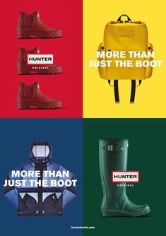 HUNTER Sports Advertising, Hunter Original, Art Director, The Originals, Boots, Movie Posters, Inspiration, Design, Shearling Boots