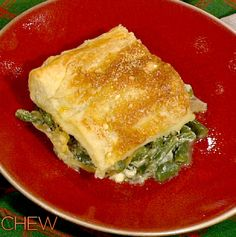 Clinton Kelly's Green Bean Casserole with Caramelized Onions and Puff Pastry #thechew