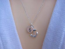 Personalized anchor necklace - Etsy Jewellery