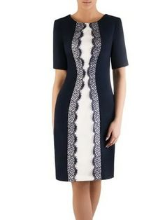 Simple Dresses, Short Sleeve Dresses, Dresses For Work, Women's Fashion Dresses, Hijab Fashion, Dame Chic, Periwinkle Dress, Schneider, Dress Suits