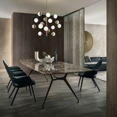 The best of luxury Dining Table design in a selection curated by Boca do Lobo to inspire interior de Dining Table Design, Dining Room Table, Dining Rooms, Marble Top Dining Table, Dining Decor, Dining Area, Kitchen Decor, Kitchen Design, Living Divani