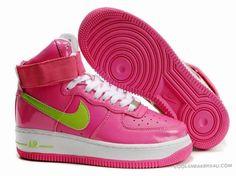 Nike Air Force 1 Hi Womens Hot Pink Green
