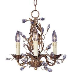 Elegante Three-Light Chandelier