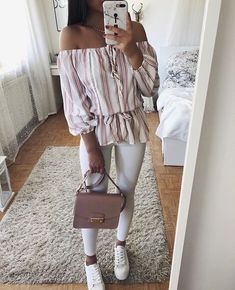 Cute outfits casual wear, clothes shop on stylevore Casual Wear, Casual Outfits, Cute Outfits, Look Legging, Mode Bcbg, Teen Fashion, Fashion Outfits, Looks Chic, Inspiration Mode