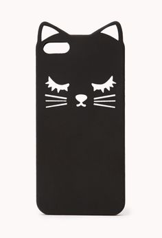 cool black cat phone case