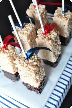Chocolate Dipped Rice Krispie Treats on a stick! Chocolate Dipped Rice Krispie Treats on a stick! Chocolate Dipped Rice Krispie Treats on a stick! Rice Crispy Treats, Krispie Treats, Rice Krispies, Yummy Treats, Sweet Treats, Just Desserts, Delicious Desserts, Dessert Recipes, Yummy Food