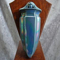 Cowan Pottery Wall Vase #653, Larkspur Lustre, Circa 1925