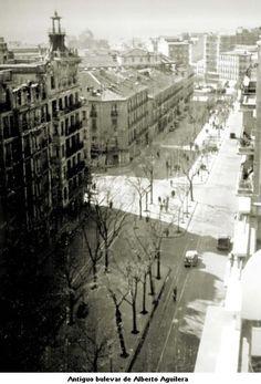 1950s Calle de Alberto Aguilera (con Barrio de Pozas antes de su desaparición)