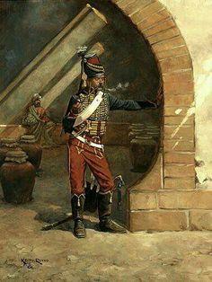Husar en Egipto en 1799 por Keith Rocco