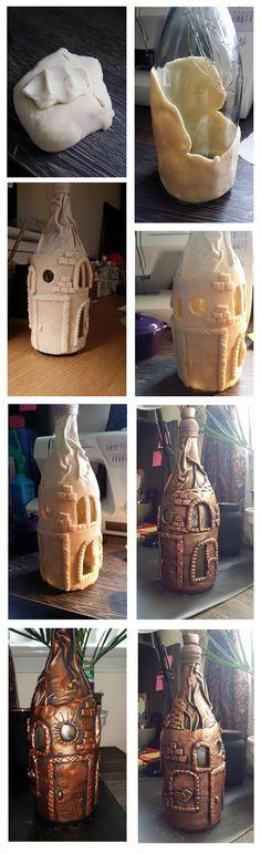 Jól bevállt só liszt gyurma, némi kreativítás, festve antikolva :)