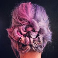 Two tone pink and purple