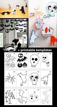 Witch, Ghost, Bat and Other HALLOWEEN TEMPLATES
