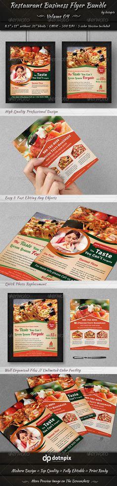 Restaurant Business Flyer Bundle   Volume 4