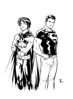 tim drake and conner kent by Marcus