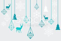 Geometric Christmas ornaments, vector royalty-free stock vector art