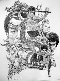 Sanjulian-Bruce Lee  Enter the Dragon  Comic Art