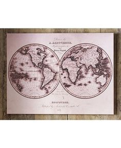 Map of the World - printed canvas art from www.grahambrown.com