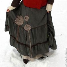 """Купить Теплая юбка """"Сказка из леса"""" - юбка, бохо, стиль бохо, бохостиль, Оригинальная одежда"""