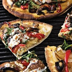 Grilled Flatbread with Hummus & Mixed Veggies