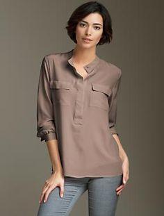 satin shirt, great color