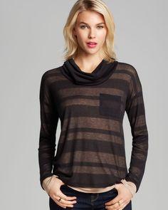 Splendid Sweater - Quebec Shadow Stripe