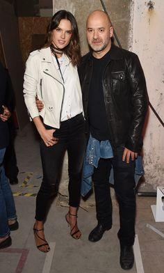 A smile for the camera: Alessandra Ambrosio and Matteo Sinigaglia of Replay.