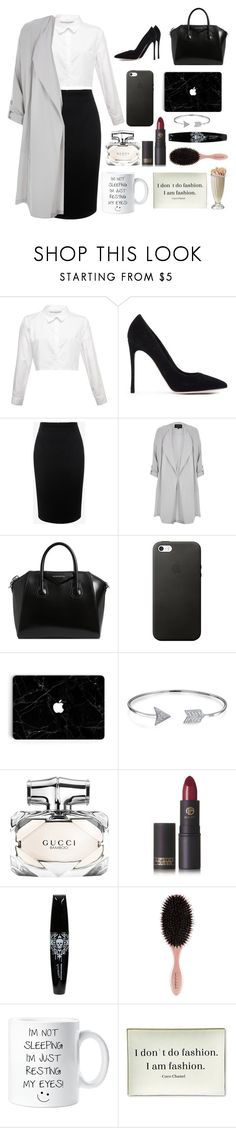 """""""Sin título #19"""" by isabela-dangelo ❤ liked on Polyvore featuring Gianvito Rossi, Alexander McQueen, River Island, Givenchy, Bling Jewelry, Gucci, Lipstick Queen and Twigs and Moss"""